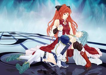 Sayaka and Kyoko by MoreXI