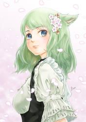 Sakura Miqo'te by MoreXI
