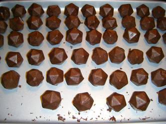 Chocolate D20s by MonkeyDragon
