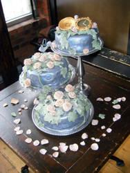 Steampunk Wedding Cake by MonkeyDragon