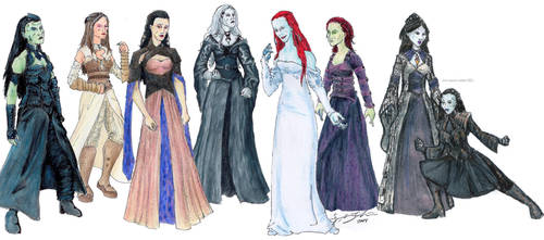 Wraith Queens by Nebulan