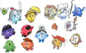 Disney Kirbys by Nebulan