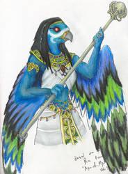 Qebehiel - Female Ra garg by Nebulan