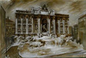 Fontana di Trevi by florian-lipan