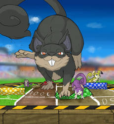 Rattata Run Away From Player 3 by DonLawride