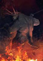 Burned devil meat by velinov