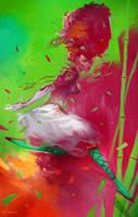 Jump goddess by velinov