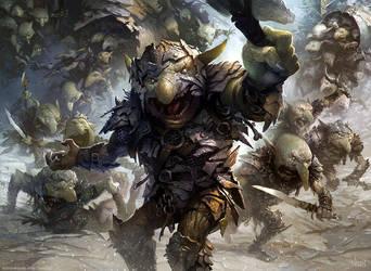 Goblin Rabblemaster by velinov