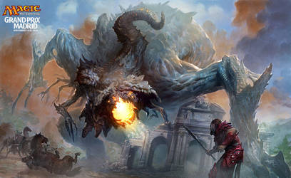 MTG GP Madrid playmat 2014 by velinov