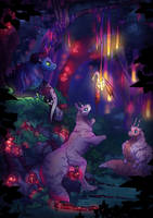 glowing forest by LadyJazzy