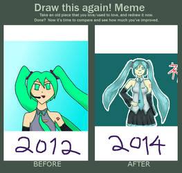 Draw This Again - 2012 to 2014 Hatsune Miku by adlez-vaatixmidna