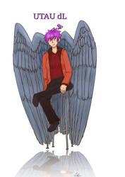 UTAU dL (with wings) by adlez-vaatixmidna