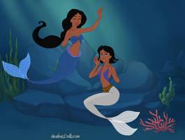 Mermaid-Scene-by-AzaleasDolls by Shilar