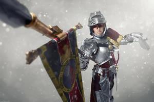 Soul Calibur IV: Hildegard von Krone. Snow shot by ElenaLeetah