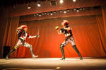 Fantasy Earth Zero fencers on-stage by ElenaLeetah