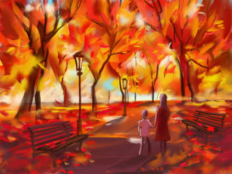 red autumn by Vov-Ka