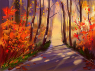 autumn forest by Vov-Ka