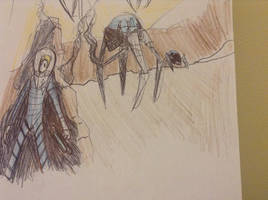 request sketch 2 roger wilco vs spider droid by Lambda-fallout125