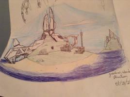 gaurdian island sketch by Lambda-fallout125