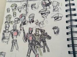 halo marine charactor doodles by Lambda-fallout125