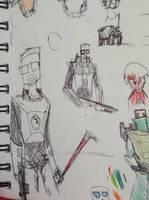 Freeman doodles by Lambda-fallout125