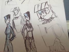 cyra doodles: alt suits by Lambda-fallout125