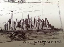 crumbling skyline by Lambda-fallout125