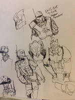 Enclave doodles by Lambda-fallout125