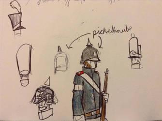 pickelhaube doodle by Lambda-fallout125