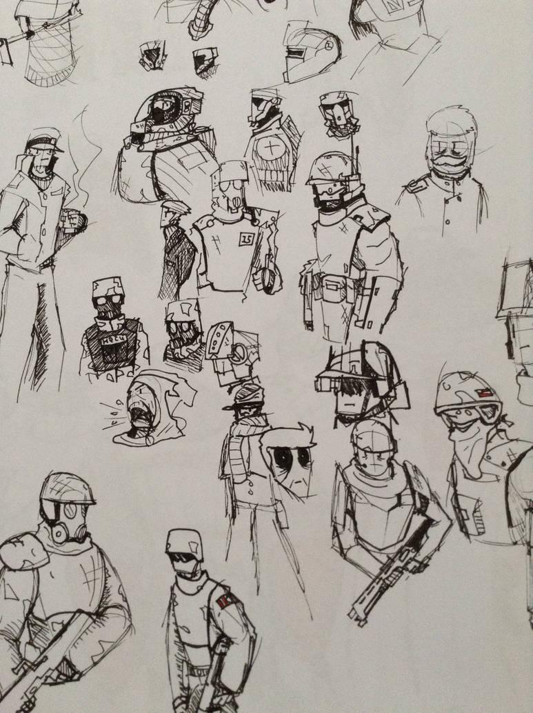 oddles of doodles by Lambda-fallout125