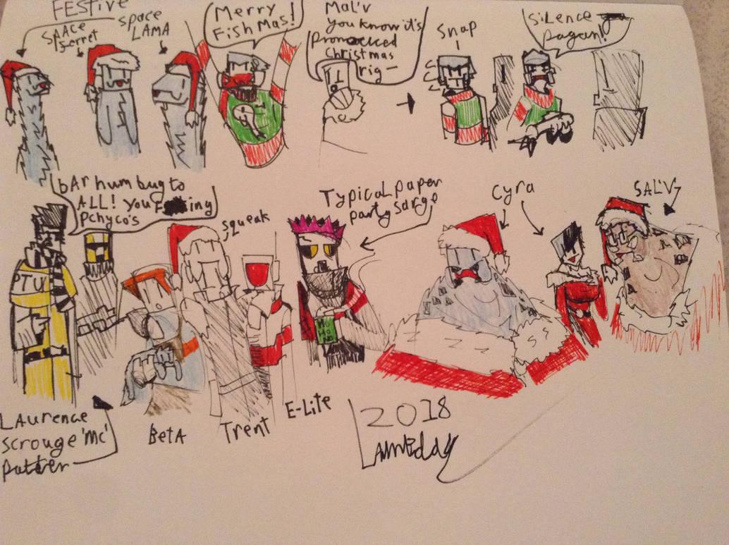 Christmas Mercs 2018 by Lambda-fallout125