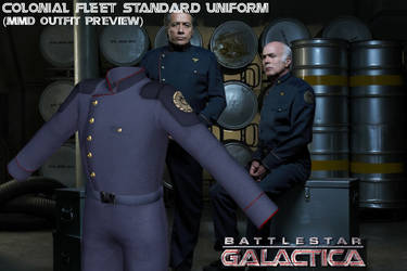 [MMD WIP] BSG Colonial Fleet standard uniform by Riveda1972