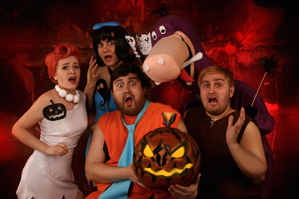 Flintstones and Helloween by MurzikYuki