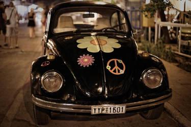 Hippie VW Beetle by Oaken-shield