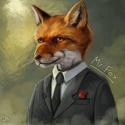 Mr. Fox Art Trade by KieranMorris