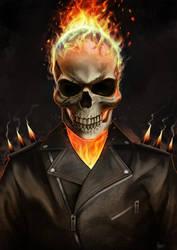 Ghostrider fanart by KieranMorris