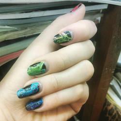 Rainbow Smoke Nails by LuvurShit