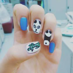 Panda Nails by LuvurShit
