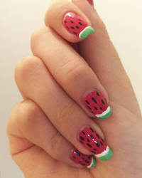 Watermelon Nails!!! by LuvurShit