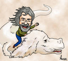 Caricatura : Michael Ende by Anselo