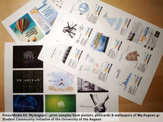 media kit samples - (posters, wallpapers, cards) by MyAegean