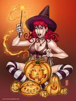 Pumpkin Witch by amanojyaku