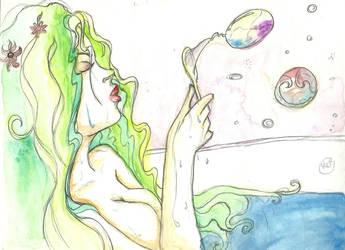 Bubbles - watercolor by Kei-3173
