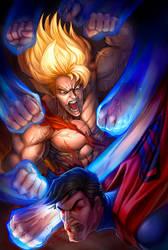 Goku VS Superman  by LidTheSquid