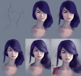 Progress Elektra Elodie Yung by LidTheSquid