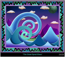 The Great Spiral Wave by EricTonArts