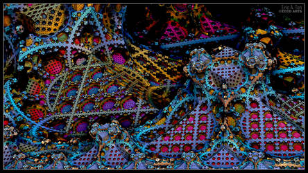 Psychedelic Grid Work by EricTonArts