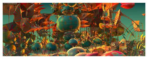 Sunset on Psychetropica by EricTonArts