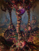 Painted Spires Of Sangril Cavern by EricTonArts