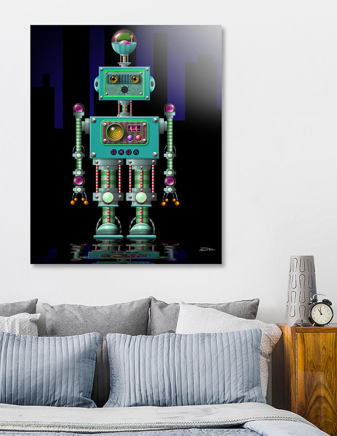 QuequeBot (acrylic print) by EricTonArts